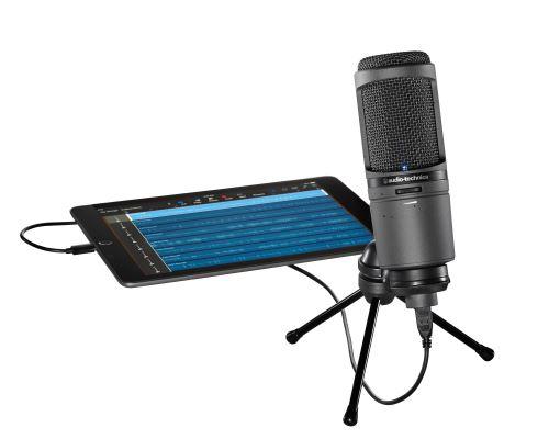 AT2020USBi - USB/Lightning mikrofon s velmi vysokou vzorkovací frekvencí, potěší zejména uživatele Mac a iOS zařízení.