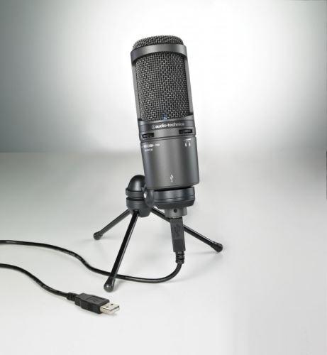 Audio-Technica AT2020USB+  USB kardioidní kondenzátorový mikrofon  se sluchátkovým výstupem a ovládáním hlasitosti