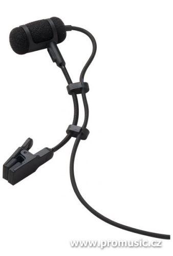 Audio-Technica ATM350cW - Kardioidní kondenzátorový mikrofon s klipsnou na nástroj