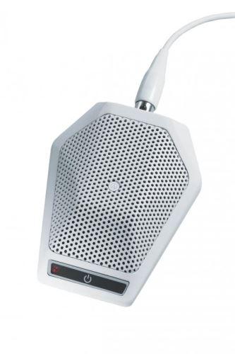 Audio-Technica U891RWX - Kardioidní kondenzátorový boundary mikrofon s vypínačem, v bílém provedení