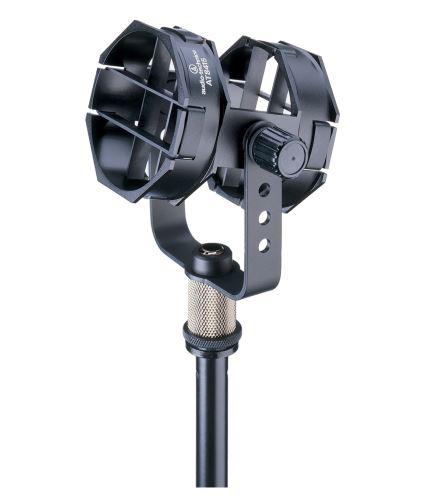 Audio-Technica AT8415 - Nízkoprofilový odpružený držák s pružnými pásky. Hodí se pro většinu mikrofonů